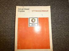 Detroit Diesel Allison 6V-71 8V-71 12V-71 16V-71 Engine Service Repair Manual