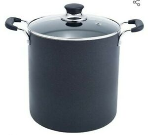 T-fal B36262 Specialty Total Nonstick Stockpot Cookware, 12-Quart, Black