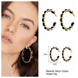 Women Geometric Statement Metal Earrings Fashion Hoop Boho Dangle Earrings NEW