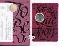 ++ 2 EURO Gedenkmünze SAN MARINO 2016 - William Shakespeare - nur 80.000 St. ++