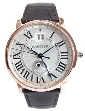 CARTIER Rotonde Grande Date GMT 18k Rose Gold Watch W1556220 Box/Papers/Warranty
