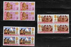 INDONESIA 1986 SC#1297-9 BOYS SCOUTS MNH!! (S63)