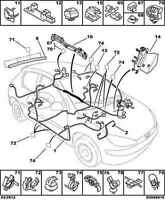 GENUINE PEUGEOT 206 CD CHANGER HARNESS / WIRING 6513G9