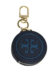 831d7d6db80 Authentic Tory Burch Logo Perforated Circle Coin Pouch Case Key Fob NTW  MSRP  85