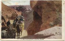 Postcard of US Mail Coach En Route in Bullfrog, Nevada - Postmark 1908