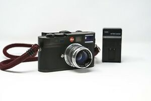 LEICA M8 Black Rangefinder Camera + Canon 50mm 1.8 lens Lots of Character