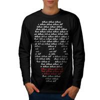 Wellcoda Skull Design Art Mens Long Sleeve T-shirt, Phrase Graphic Design