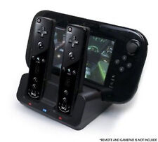 NERO Caricabatterie Docking Station + 2x Battery Pack per Wii e Wii U Remote Gamepad
