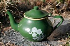 Petite théière tôle émaillée rétro Kitchenalia Vintage Enamel Tea Pot Shabby