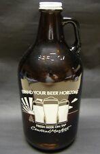 Central Market Amber Glass Beer Growler 64 oz