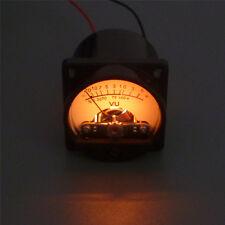 6-12V Panel VU Meter With Indicator Warm Back Light Audio Level Amp Meter Analog