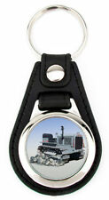 Caterpillar Ten Crawler Tractor Richard Browne Artwork Keychain Key Fob -