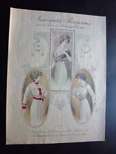 Gravure couleur mode ancienne:  nouveautés Parisiennes,printemps-été 1913