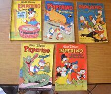 LOTTO 5 FUMETTI PAPERINO WALT DISNEY ALBI D' ORO ANNI 1951 1952 1955