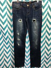Seven7 Womens Distressed Bootcut Denim Jeans Mid-Rise Size 29