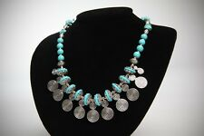 Spirals Necklace Turquoise &