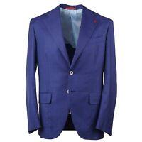 Isaia 'Marechiaro' Brighter Blue Check Aquaspider 160s Wool Suit 38R (Eu 48) NWT