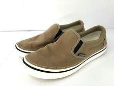 Crocs Hover Slip On Sneakers Canvas Brown Mens 9 Womens 11
