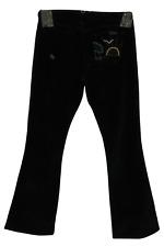 Womens Grass Los Angeles Bootcut Corduroy Pants (Size 31) Black C3543