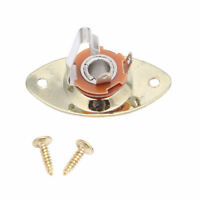 Gold Oval Guitar Output Plate Metal Durable For LP Gibson Electronic Guitar
