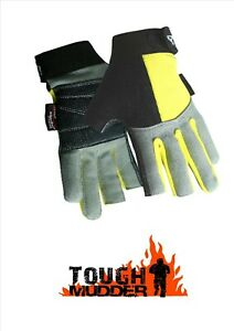Reinforced Padded Palm Tough Mudder/Iron Man/Event Aramid 2 Digit Gloves