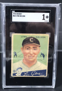 1934 Goudy Lynn Nelson #60 SGC 1 VINTAGE Lou Gehrig Says Chicago Cubs
