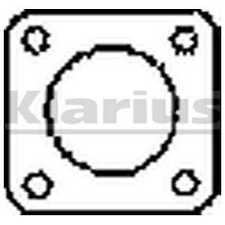 Klarius Exhaust Gasket 410564 - BRAND NEW - GENUINE - 5 YEAR WARRANTY