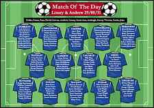 A2 -selection of football wedding tableplans any colour & design / layout