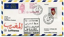 FFC 1971 Lufthansa First Flight LH 191 Casablanca Frankfurt Maroc