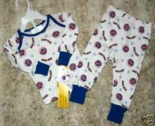 NWT N.Y. NEW YORK METS BABY INFANT 2 PC LONG JOHN PAJAMAS PJS 6 12 18 MONTHS