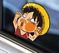 2Pcs Anime One Piece Monkey·D·Luffy Car Sticker Window Auto Decal Wall