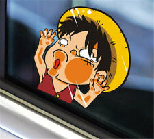 2Pcs Anime One Piece Monkey·D·Luffy Car Sticker Window Auto Decal Wall