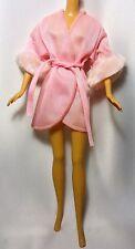 Vestido De Noche Vintage Muñeca Barbie Rosa Etiqueta Blanco y Negro