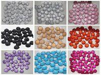 500 Round Flatback Dotted Rhinestone Gem 6mm Flatback Resin Pick Your Colour