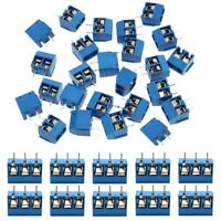 60 PièCes SéRies 5Mm Pas 2 Broches et 3 Broches PCB Vis de Montage Bornier  C2J4