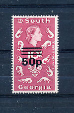 SOUTH GEORGIA 1971 DEFINITIVES SG31b 50p on 10s  MNH