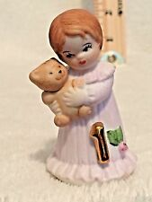 Enesco Growing up Bi 00006000 rthday Girl #1 Age Figurine with Brown Hair 1982 Cake Topper