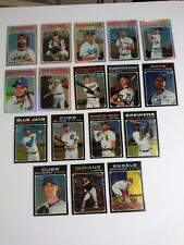 2020 Topps Heritage Lot of 17 All #ed Chrome Refractors Silver /571 Black /999