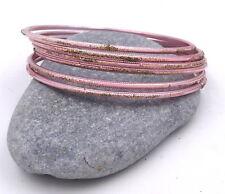 6 bracelets bangles rose paillettes strass Bollywood sari danse orientale Inde