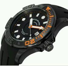Stuhrling Original 718 04 Manta Ray Swiss Quartz Diver Rubber Strap Mens Watch