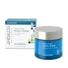 Lemon Sugar Facial Scrub Andalou Naturals 1.7 oz Cream