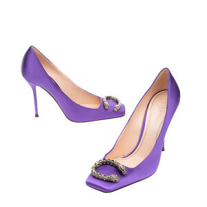 RRP €680 GUCCI Satin Court Shoes Size 39.5 UK 6.5 US 9.5 Dionysus Made in Italy