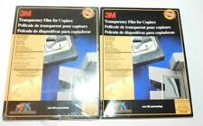 """Lot of Two 2 3M Transparency Film for Copiers 100 Sheets Each 8.5"""" x 11"""" PP2200"""