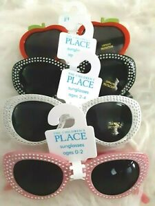 NWT! The Children's Place Girl's Sunglasses Pink White Black