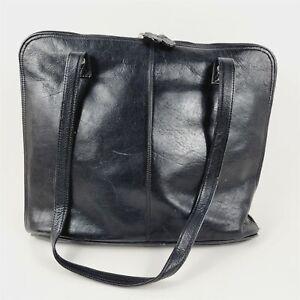 J. Jill Black Genuine Leather Tote Shoulder Bag