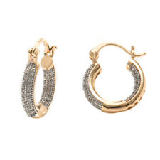 Sevil 18K Gold Plated Hoop Earrings With Swarovski Elements