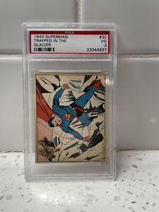 1940 Superman #30 Trapped in the Glacier Gum Inc PSA 3