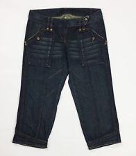 Expensive jeans corto capri shorts bermuda donna usato w30 tg 44 denim blu T3765