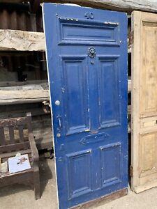 RECLAIMED - Victorian ANTIQUE PINE 5 PANEL DOOR (Front, Entrance, Period)