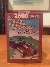 Sprint Master Atari 2600 Video Game 1988 NIB NIP Formula One Racing Grand Prix